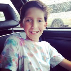 Oscar smile in car