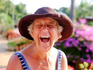 Sheila laughing